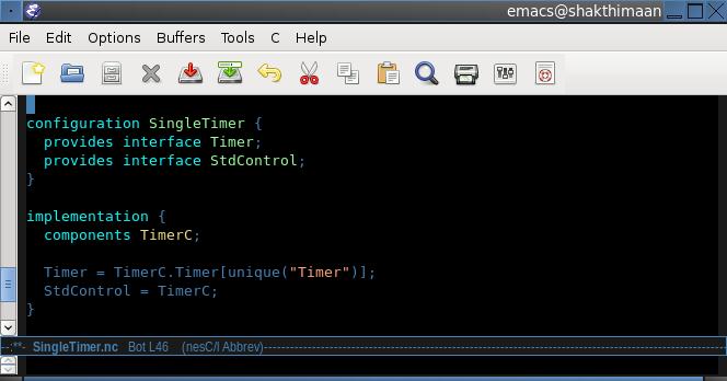 Emacs nesc screenshot