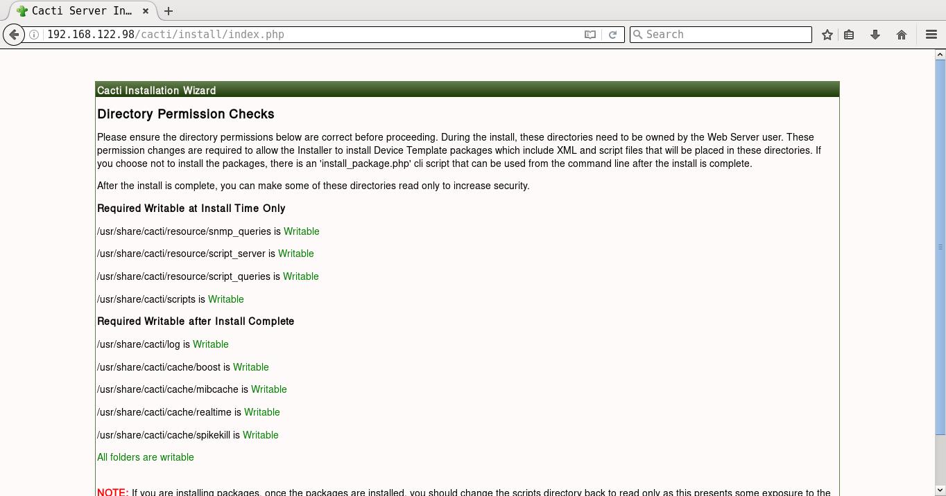 Directory permission checks